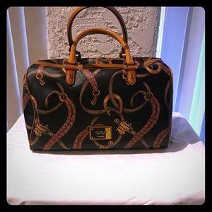 Ralph Lauren Black Equestrian Barrel Bag